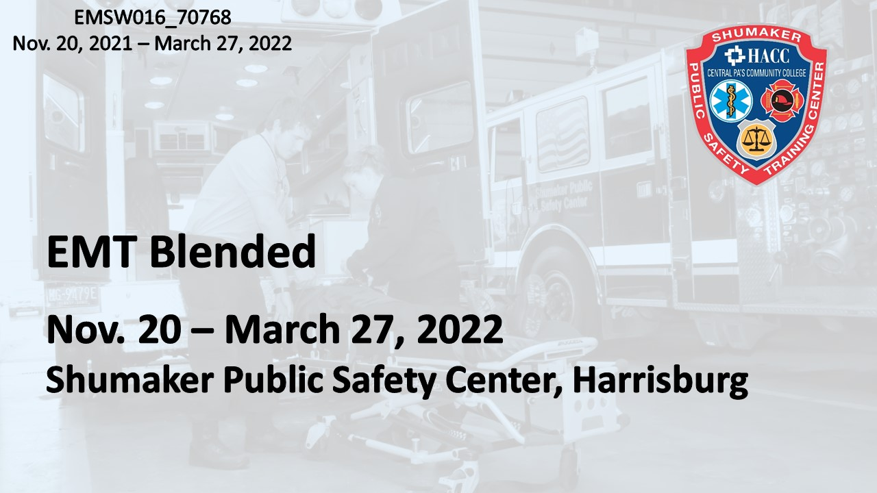 EMT Blended Saturday (EMSW016_CRN70768) Dauphin County