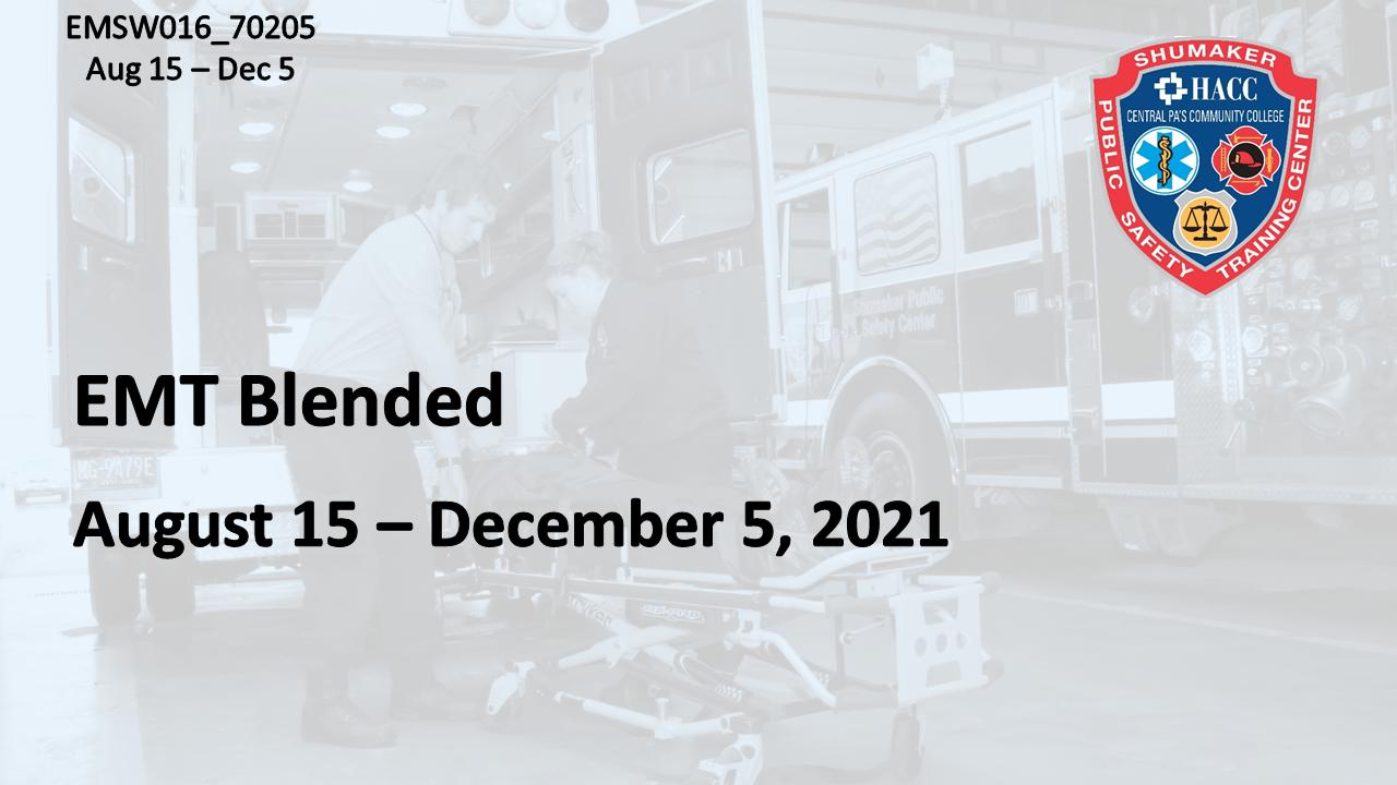 EMT Blended Sunday (EMSW016_CRN70205) Lancaster County