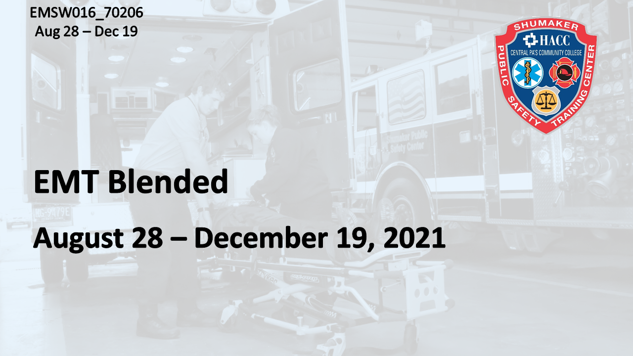 EMT Blended Saturday (EMSW016_CRN70206) Dauphin County