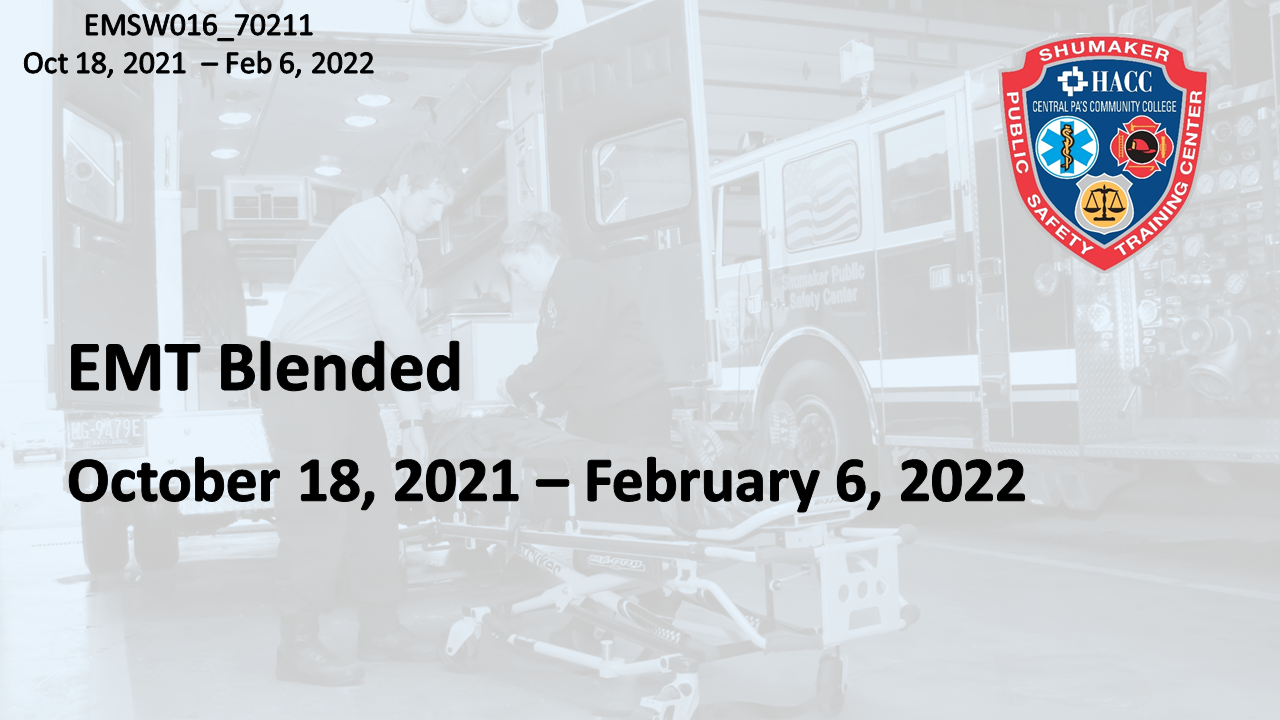 EMT Blended Monday (EMSW016_CRN70211) Dauphin County