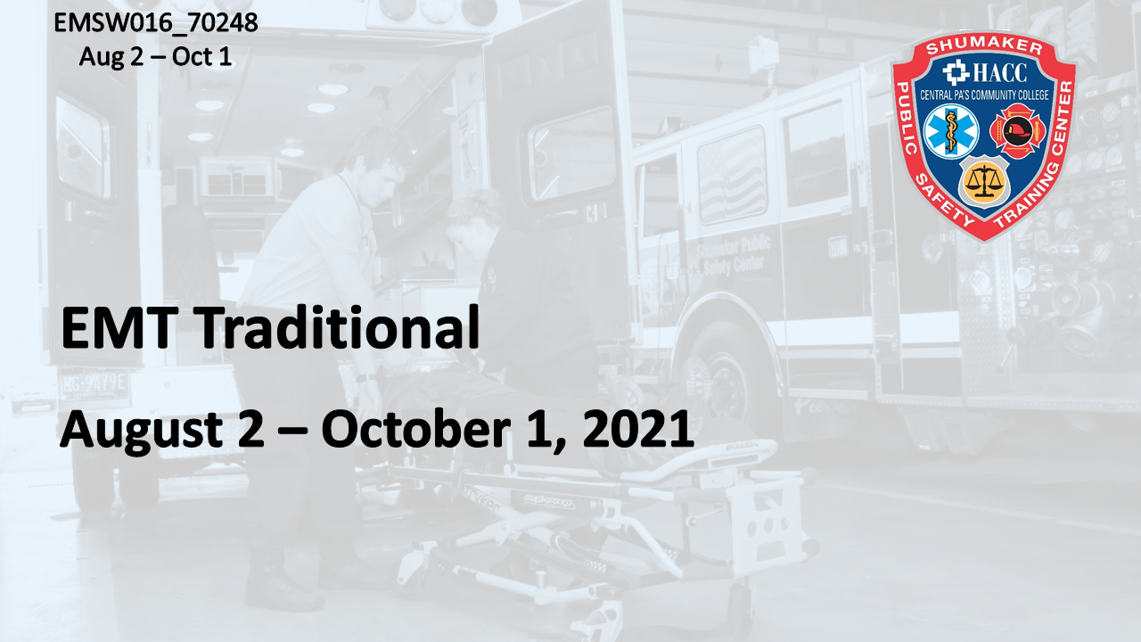EMT Traditional Fall (EMSW016_CRN70248) Dauphin County