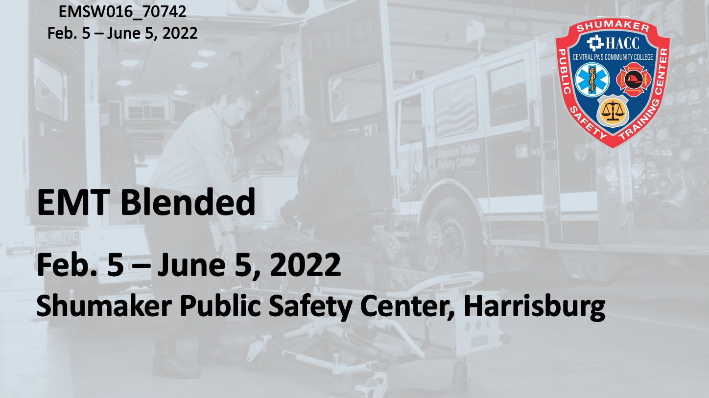EMT Blended Saturday (EMSW016_CRN70742) Dauphin County