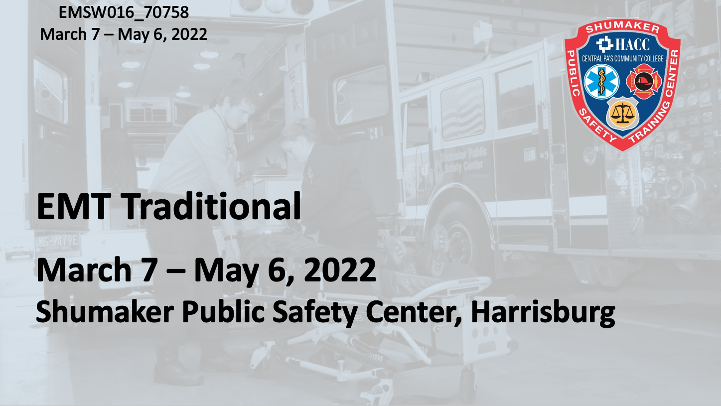 EMT Traditional (EMSW016_CRN70758) Dauphin County