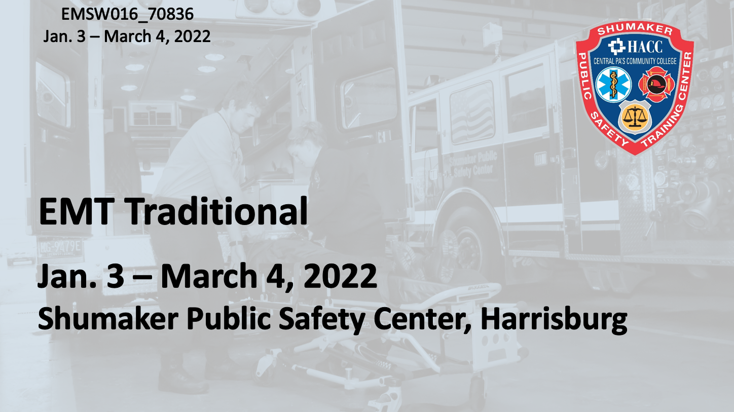EMT Traditional (EMSW016_CRN70836) Dauphin County
