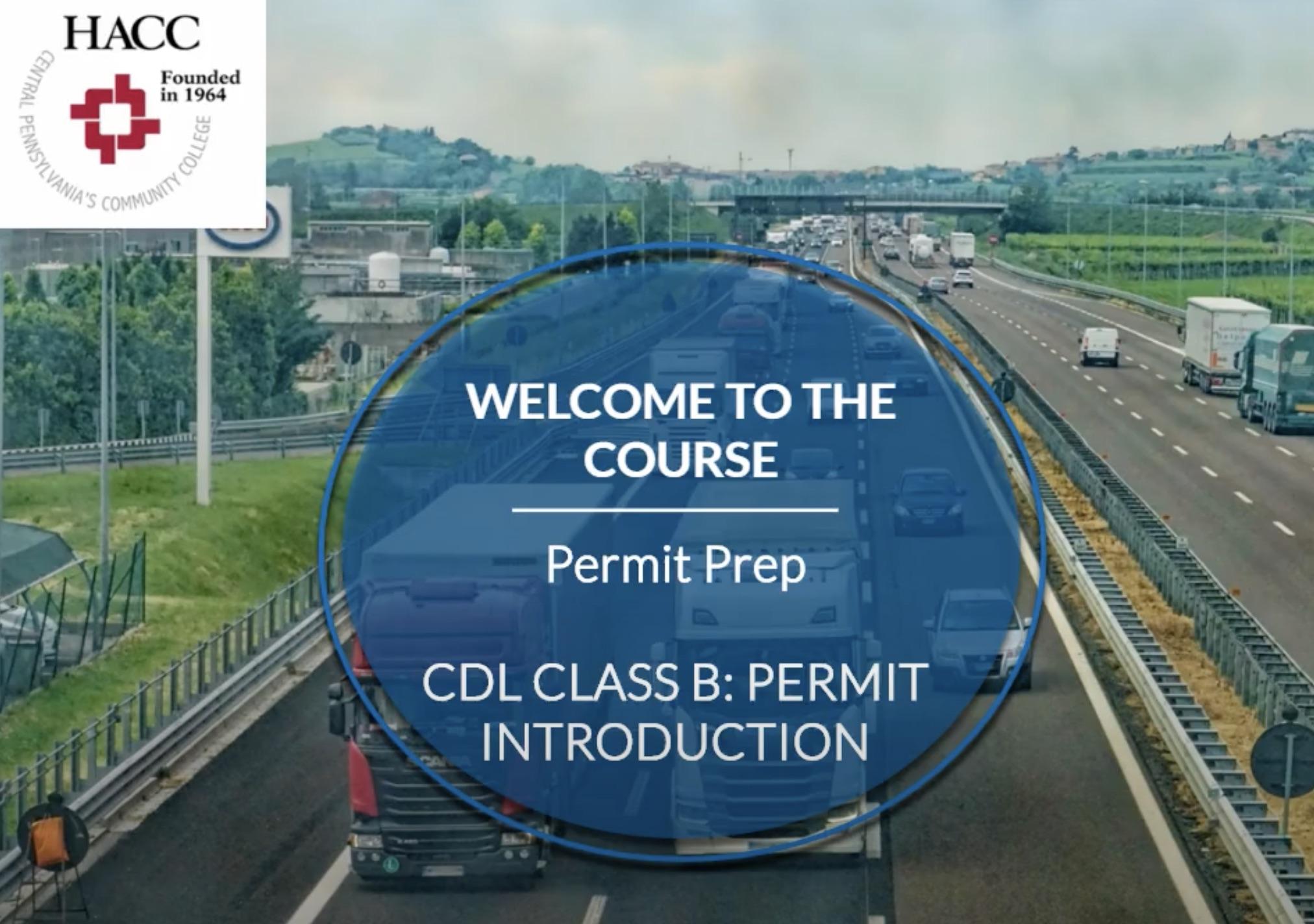 CDL Class B: Permit Prep (CE001_CRN60757)