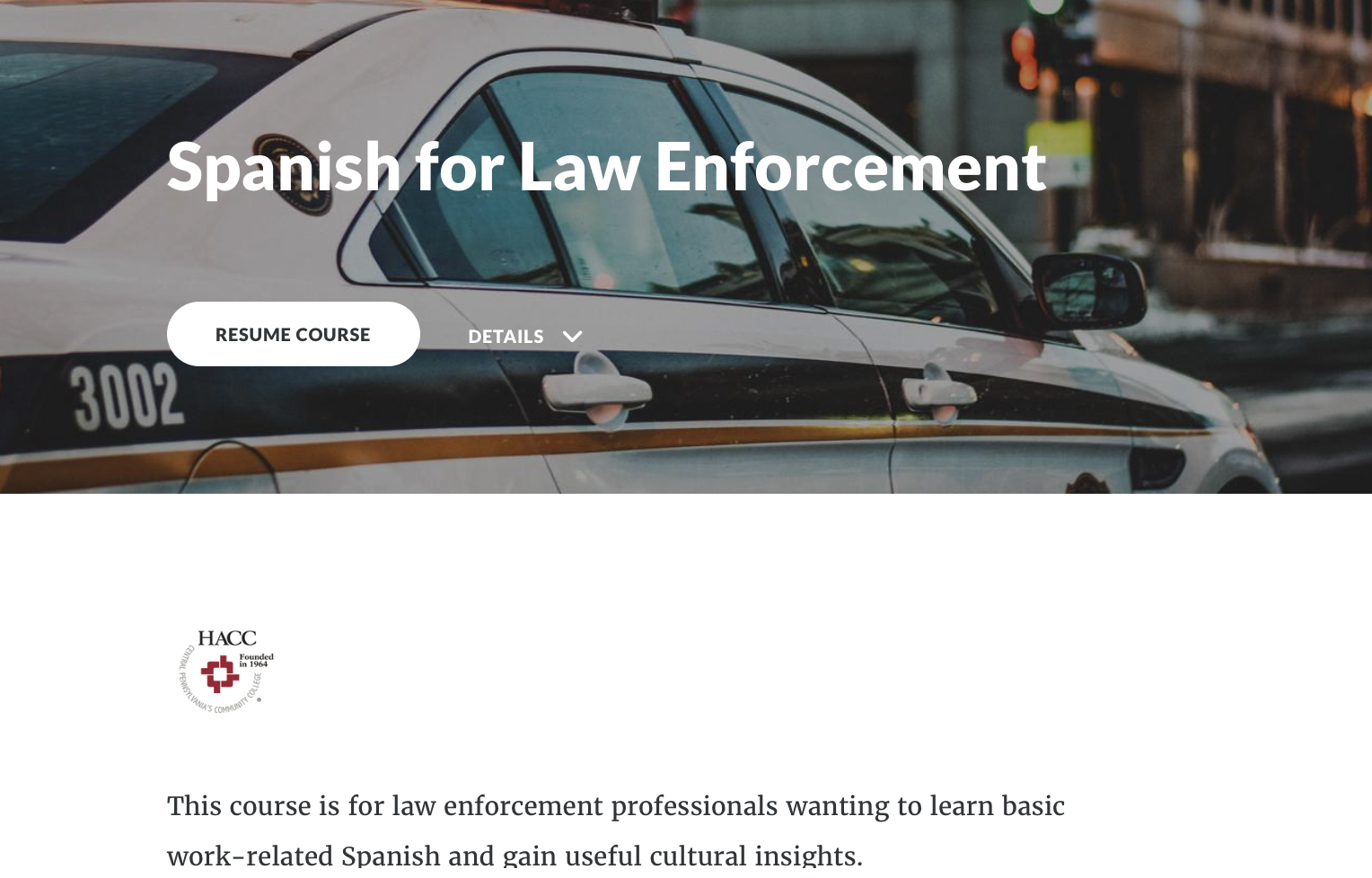 Spanish for Law Enforcement (70377)