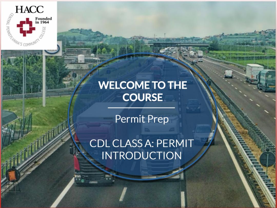 CDL Class A: Permit Prep (CE002_CRN60756)