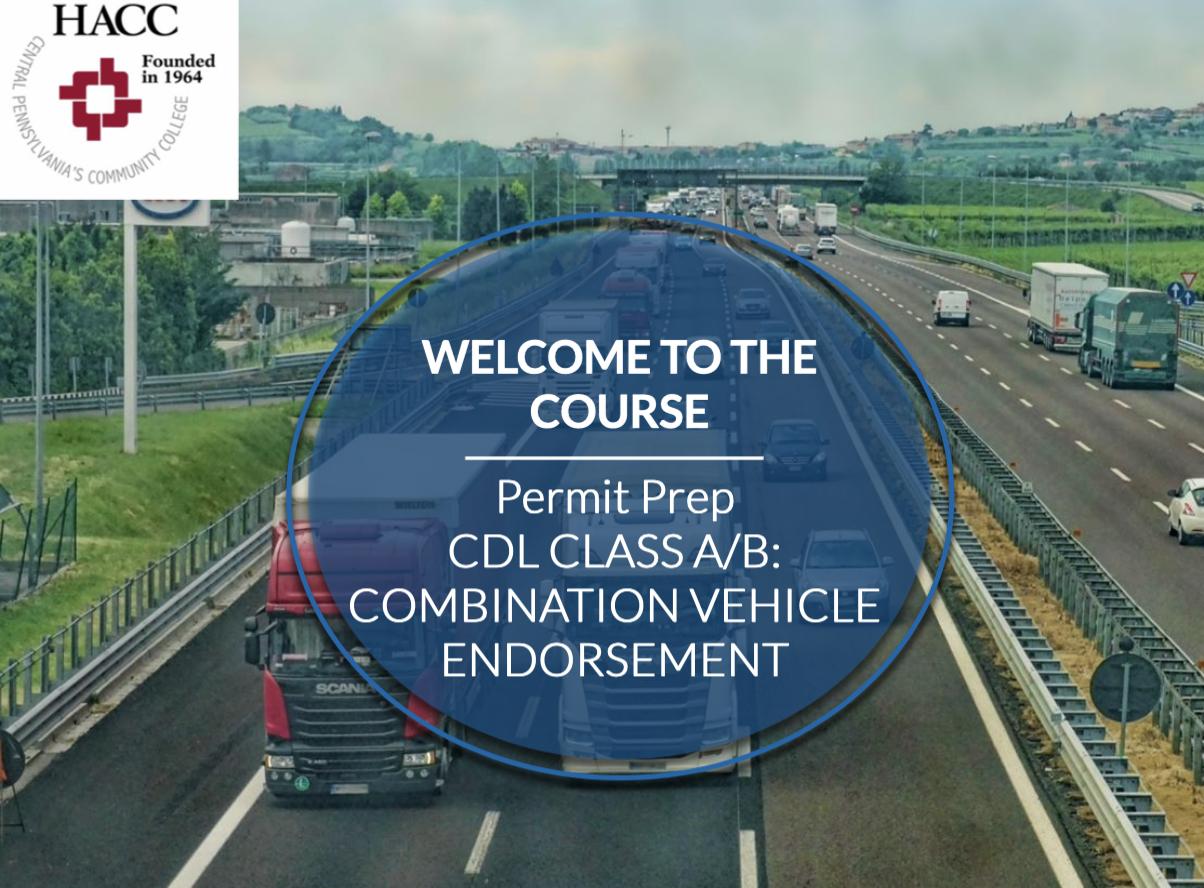 CDL Endorsement: Combination Vehicle (70355)