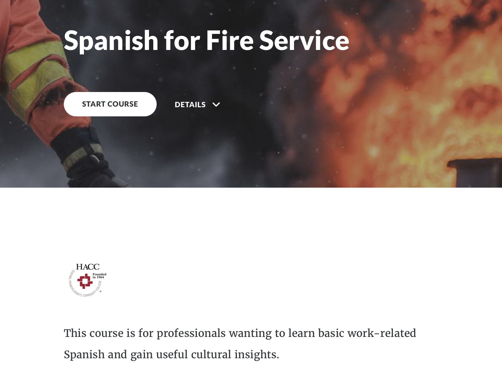 Spanish for Fire Service (70578)