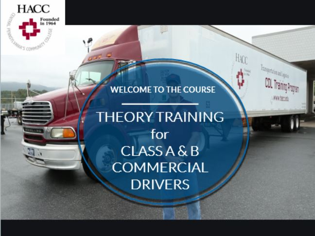 Theory Training for Class A & B Commercial Drivers (CE051_CRN60417)